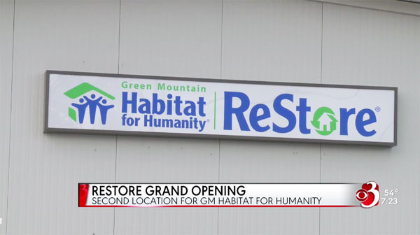 Grand Opening of the Milton ReStore, a second location of Green Mountain Habitat for Humanity ReStores in Vermont.